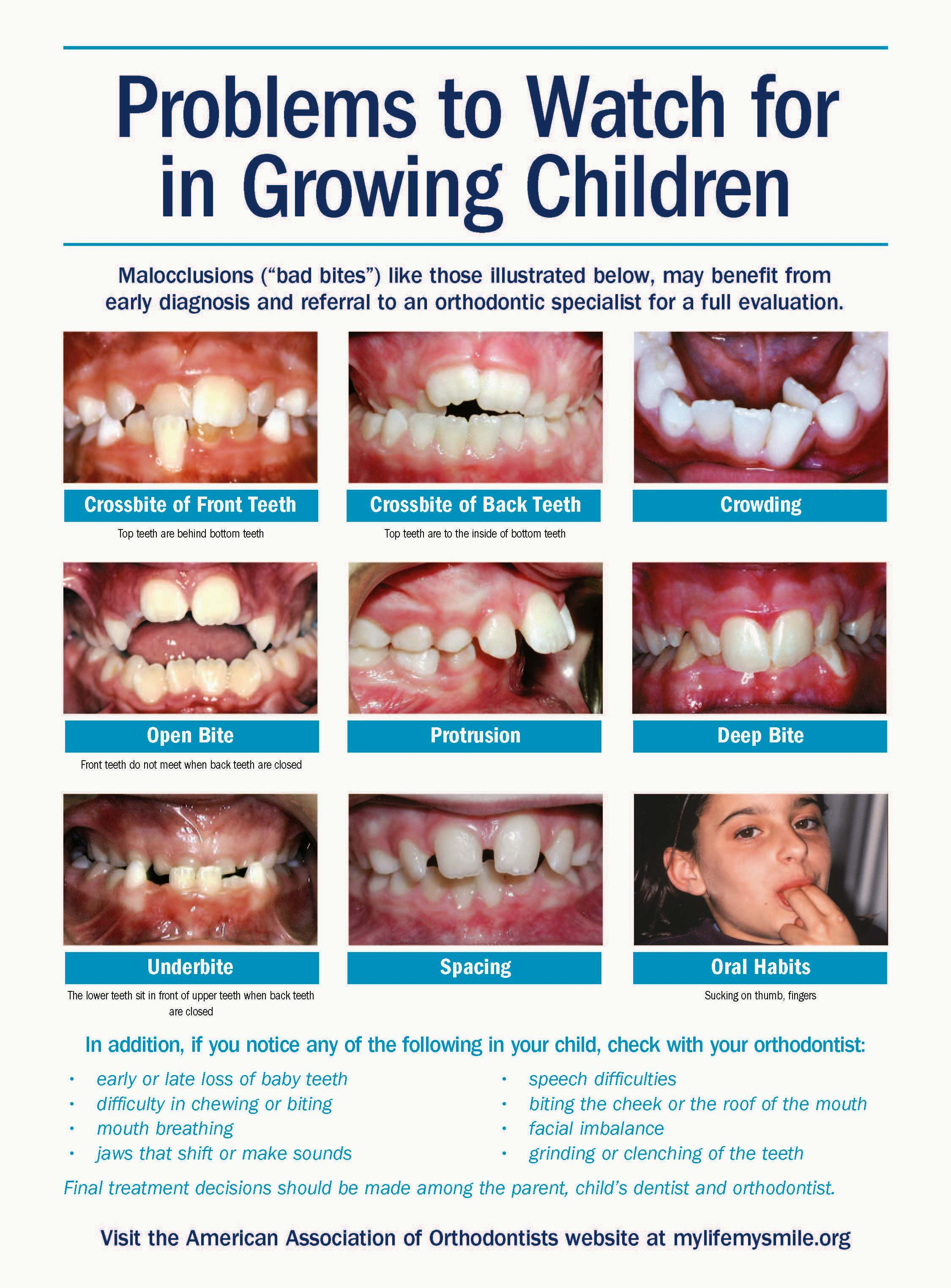 At what age and how does the childs teeth grow